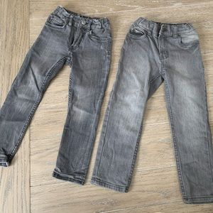 2 Boys Grey Skinny Jeans Bundle H&M/Carter's